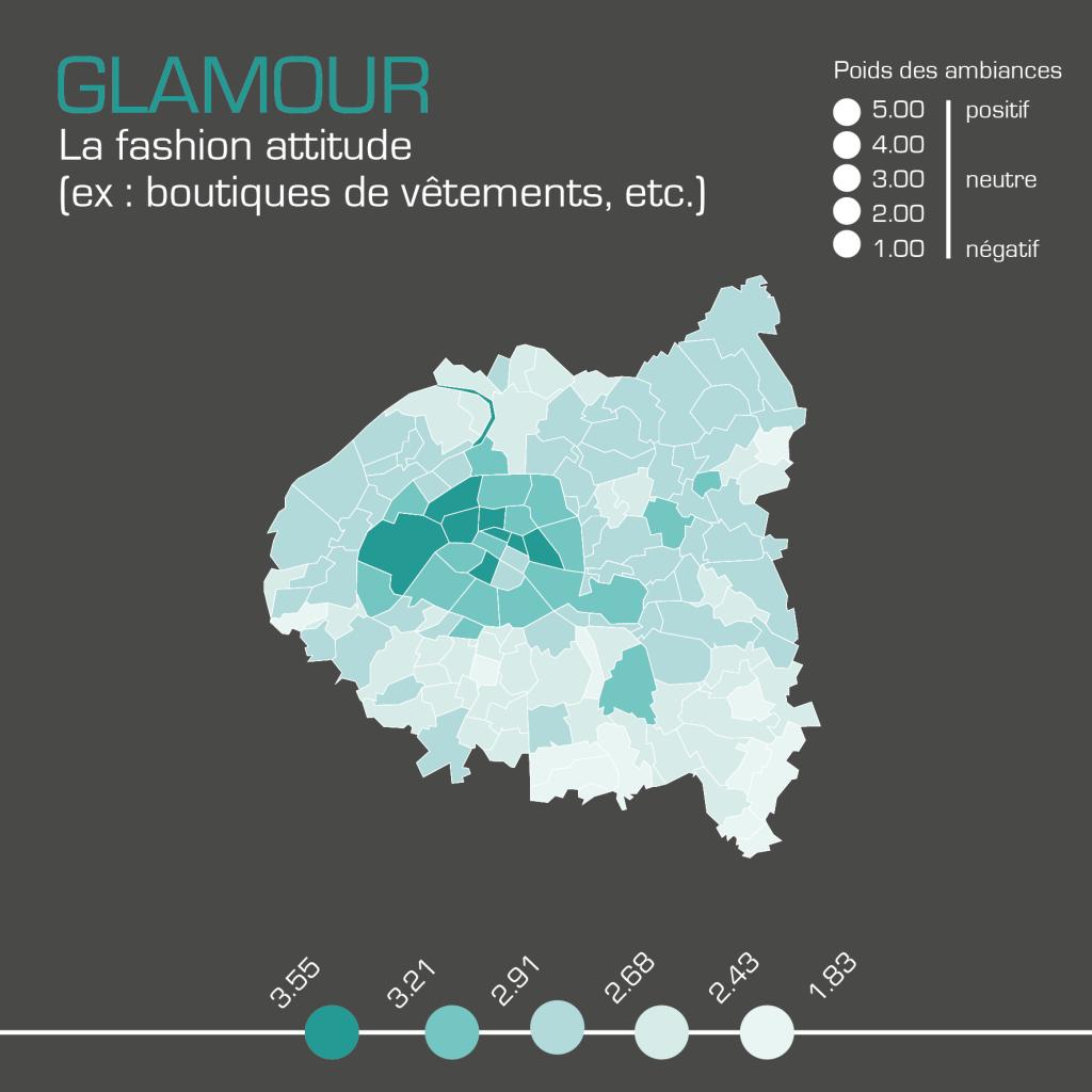 Cartographie de l'ambiance glamour réalisée par kamisphère