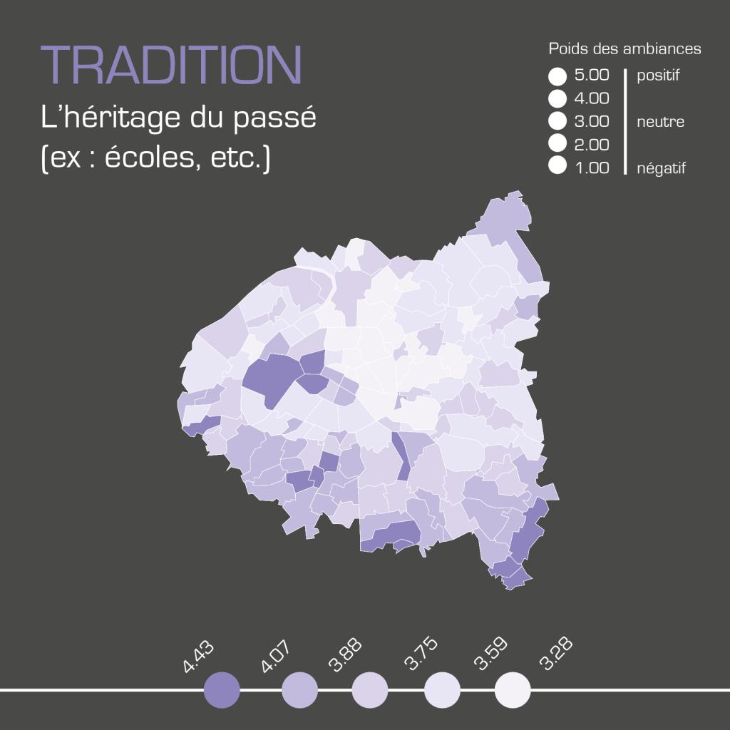 Cartographie de l'ambiance tradition réalisée par Kamisphère