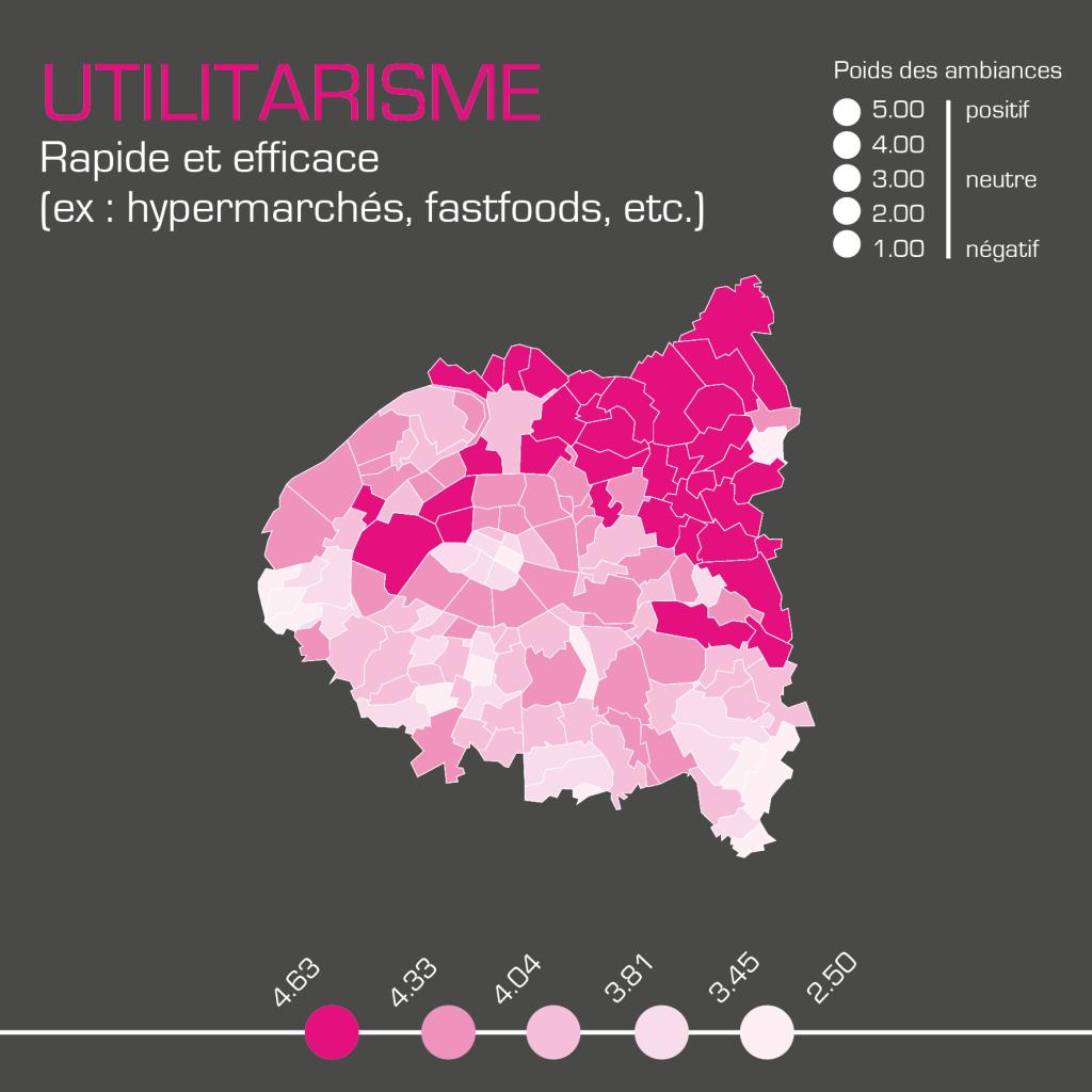 Cartographie des ambiances utilitariste réalisée par Kamisphère