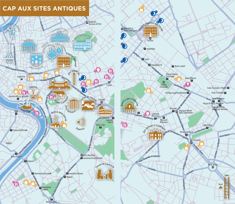 cartes des sites antiques